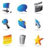 Iconos para el interfaz del ordenador Imagen de archivo