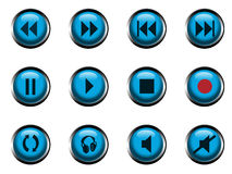 Iconos para el jugador Imagenes de archivo
