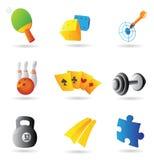 Iconos para el ocio Imagenes de archivo
