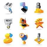 Iconos para el ocio Foto de archivo libre de regalías