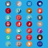 Iconos para el servicio en un estilo plano Vector Fotografía de archivo