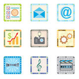 Iconos para el teléfono elegante Fotos de archivo