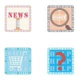 Iconos para el teléfono elegante Imágenes de archivo libres de regalías