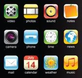 Iconos para el teléfono móvil Fotografía de archivo libre de regalías