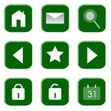 Iconos para el Web site y el Internet Imágenes de archivo libres de regalías