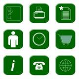 Iconos para el Web site y el Internet foto de archivo