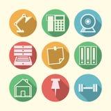 Iconos para independiente y el negocio Imagen de archivo