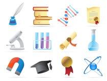 Iconos para la ciencia Imagenes de archivo