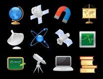 Iconos para la ciencia Imágenes de archivo libres de regalías