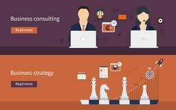 Iconos para la estrategia empresarial Foto de archivo