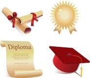 Iconos para la graduación Imagen de archivo