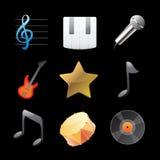 Iconos para la música Imagen de archivo