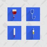 Iconos para la medicina Imágenes de archivo libres de regalías