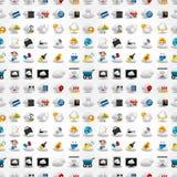 Iconos para la red de la nube, modelo inconsútil Imagenes de archivo