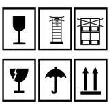 Iconos para las cajas de cartón Imágenes de archivo libres de regalías