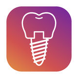 Iconos para las clínicas dentales, ortodoncia del vector Imagen de archivo libre de regalías