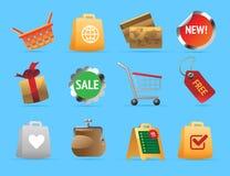 Iconos para las compras Imagen de archivo