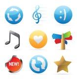 Iconos para las muestras Fotos de archivo libres de regalías