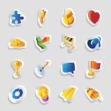 Iconos para las muestras y las metáforas Imágenes de archivo libres de regalías