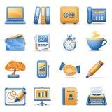 Iconos para las series anaranjadas azules 3 del Web Imágenes de archivo libres de regalías
