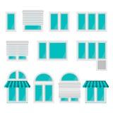 Iconos para las ventanas Fotografía de archivo libre de regalías