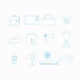 Iconos para los aparatos electrodomésticos Fotos de archivo libres de regalías