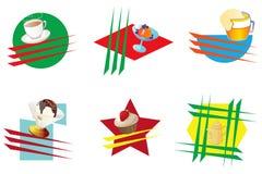 Iconos para los cafés Imagenes de archivo