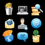 Iconos para los conceptos Fotografía de archivo libre de regalías