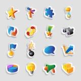 Iconos para las muestras y las metáforas Imagen de archivo libre de regalías