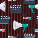 Iconos pattern-01 del vector de la película Imagenes de archivo