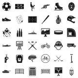 Iconos perfectos fijados, estilo simple de la salud ilustración del vector