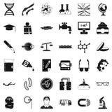 Iconos perfectos fijados, estilo simple de la tecnología libre illustration