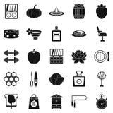 Iconos perfectos fijados, estilo simple del cuerpo libre illustration