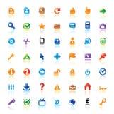 Iconos perfectos para el interfaz Foto de archivo