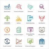 Iconos personales y del negocio de las finanzas - sistema 1 Fotografía de archivo libre de regalías