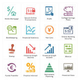 Iconos personales y del negocio de las finanzas - sistema 3 Imágenes de archivo libres de regalías