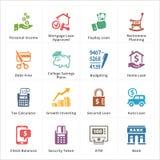 Iconos personales y del negocio de las finanzas - sistema 2 Fotografía de archivo libre de regalías