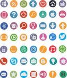 49 iconos planos Fotos de archivo libres de regalías