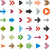 Iconos planos de la flecha. Imagenes de archivo