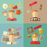 Iconos planos de la gente Imagenes de archivo