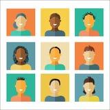 Iconos planos de la gente Imagen de archivo libre de regalías