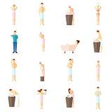 Iconos planos de la higiene personal fijados Foto de archivo libre de regalías