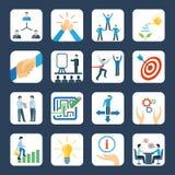 Iconos planos de la tutoría fijados Fotos de archivo libres de regalías