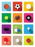 Iconos planos de las bolas del deporte libre illustration