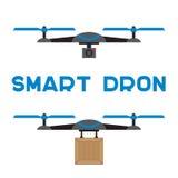 Iconos planos de los quadrocopters Fotografía de archivo