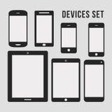 Iconos planos de Smartphone y de la tableta Fotografía de archivo libre de regalías