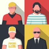 Iconos planos del avatar Foto de archivo libre de regalías