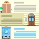 Iconos planos del color fijados para la entrada Imagen de archivo