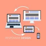 Iconos planos del concepto de diseño para el web y los servicios móviles Iconos de Apps para Internet que hace publicidad del des stock de ilustración