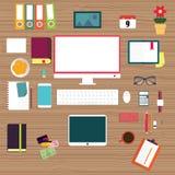 Iconos planos del concepto del ejemplo del diseño Imágenes de archivo libres de regalías